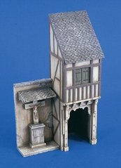 Old German City Covered Passageway and Shrine 1:35