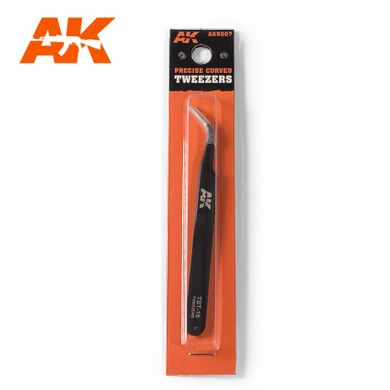 Пинцет загнутый остроносый (AK Interactive 9007 Precision curved tweezers)