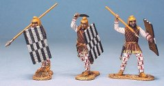 3 Persian Infantry Attacking - with sword and spear set #1