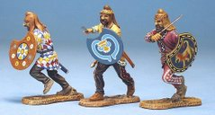 3 Persian Infantry Attacking - Crecent Shield Set #2