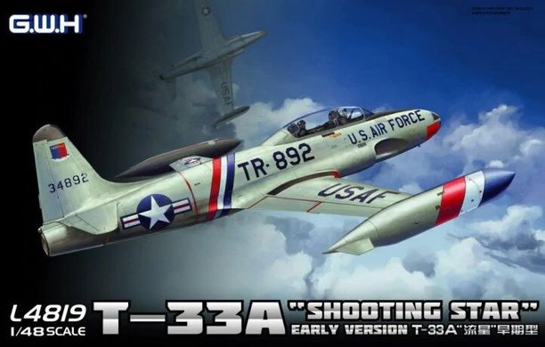 1/48 Самолет T-33A Shooting Star ранняя версия (Great Wall Hobby L-4819), сборная модель