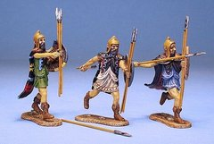3 Figures Thracian Peltasts Type 2