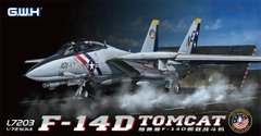1/72 Самолет F-14D Tomcat эскадрильи VF-2 Bounty Hunters (Great Wall Hobby L-7203), сборная модель