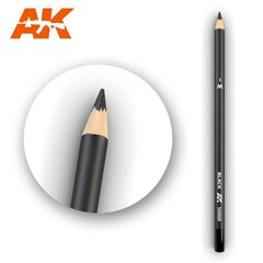 "Карандаш для везеринга и эффектов ""Черный"" (AK Interactive AK10001 Weathering pencils BLACK)"