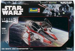 1/58 Star Wars. Obi-Wan's Jedi Starfighter (Revell 03607) Easy Kit