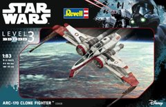 1/83 Star Wars. ARC-170 Clone Fighter (Revell 03608) Easy Kit