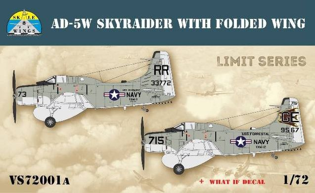 1/72 AD-5W Skyraider со сложенными крыльями (Skale Wings VS72001a) Лимитная Серия