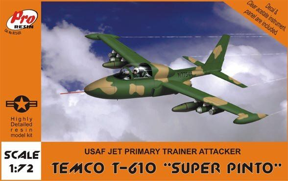 "Pro Resin R72-034 Temco T-610 ""Super Pinto"" USAF Jet Primary Trainer Attacker 1/72"