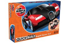 Airfix Quick Build Автомобиль Bugatti Veyron Black and Red (J6020)
