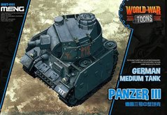 Танк Panzer III, сборка без клея, Meng World War Toons WWT-005