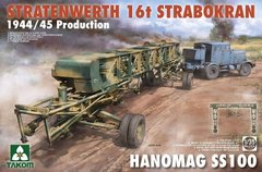 1/35 Stratenwerth 16T Strabokran 1944/45 Production + тягач Hanomag SS100 (Takom 2124) сборные модели