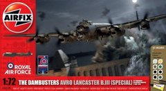 Airfix 50138 The Dambusters: Avro Lancaster B.III (Special) 617 Squadron Operation Chastise 17 May 1943 1/72 + клей + краска + кисточка