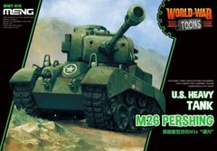 Танк M26 Pershing, сборка без клея, Meng World War Toons WWT-010