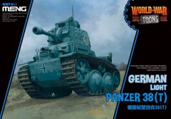 Танк Panzer 38(t), сборка без клея, Meng World War Toons WWT-011