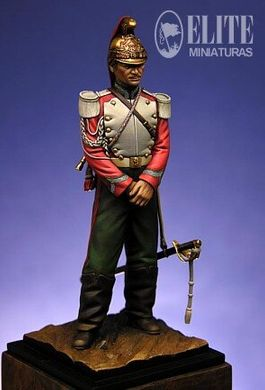 70 мм French Trumpeter, Dragoon of the Guard 1870 (Elite Miniatures 70-021)