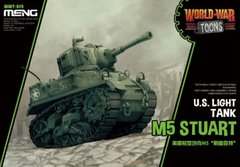 Танк M5 Stuart, сборка без клея, Meng World War Toons WWT-012