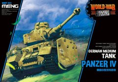 Танк Panzer IV, сборка без клея, Meng World War Toons WWT-013
