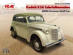 1/35 Opel Kadett K38 Cabriolimousine германский штабной автомобиль (ICM 35483) сборная модель