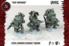 "Steel Guards Assault Squad ""Red Tornado"", 3 миниатюры, под масштаб 40 мм (Dust Tactics DT-058), пластик"
