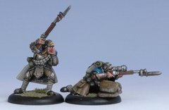 Warmachine Cygnar Trencher Officer and Sharpshooter Attach (Blister pack) - Privateer Press Miniatures PRIV-PIP 31047