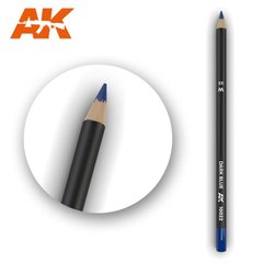 "Карандаш для везеринга и эффектов ""Синий"" (AK Interactive AK10022 Weathering pencils DARK BLUE)"