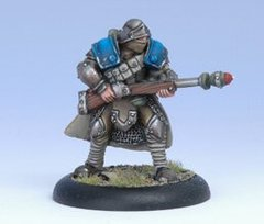 Warmachine Cygnar Trencher Grenade Porter Spec Weapon Attac (Blister pack) - Privateer Press Miniatures PRIV-PIP 31048