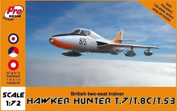Pro Resin R72-048 Hawker Hunter T.7/T.8C/T.53 British two-seat trainer 1/72