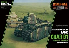 Танк Char B1, сборка без клея, Meng World War Toons WWT016