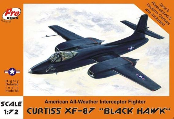 "Pro Resin R72-020 Curtiss XF-87 ""Black Hawk"" American All-Weather Interceptor Fighter 1/72"