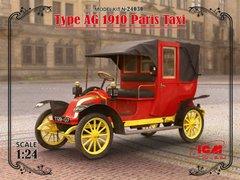 1/24 Автомобиль Type AG 1910 Paris Taxi (ICM 24030) сборная модель
