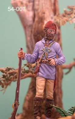 "54 мм ""Toussaint Charbonneau"" (French Trapper) w second Indian Head"