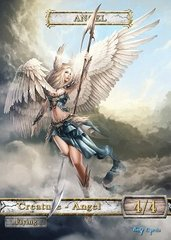 Angel #6 Token Magic: the Gathering (Токен) GnD Cards