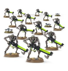 Necron Warriors with Canoptek Scarabs, 12 фігур + 3 зграї скарабеїв (Games Workshop 49-06), збірні пластикові